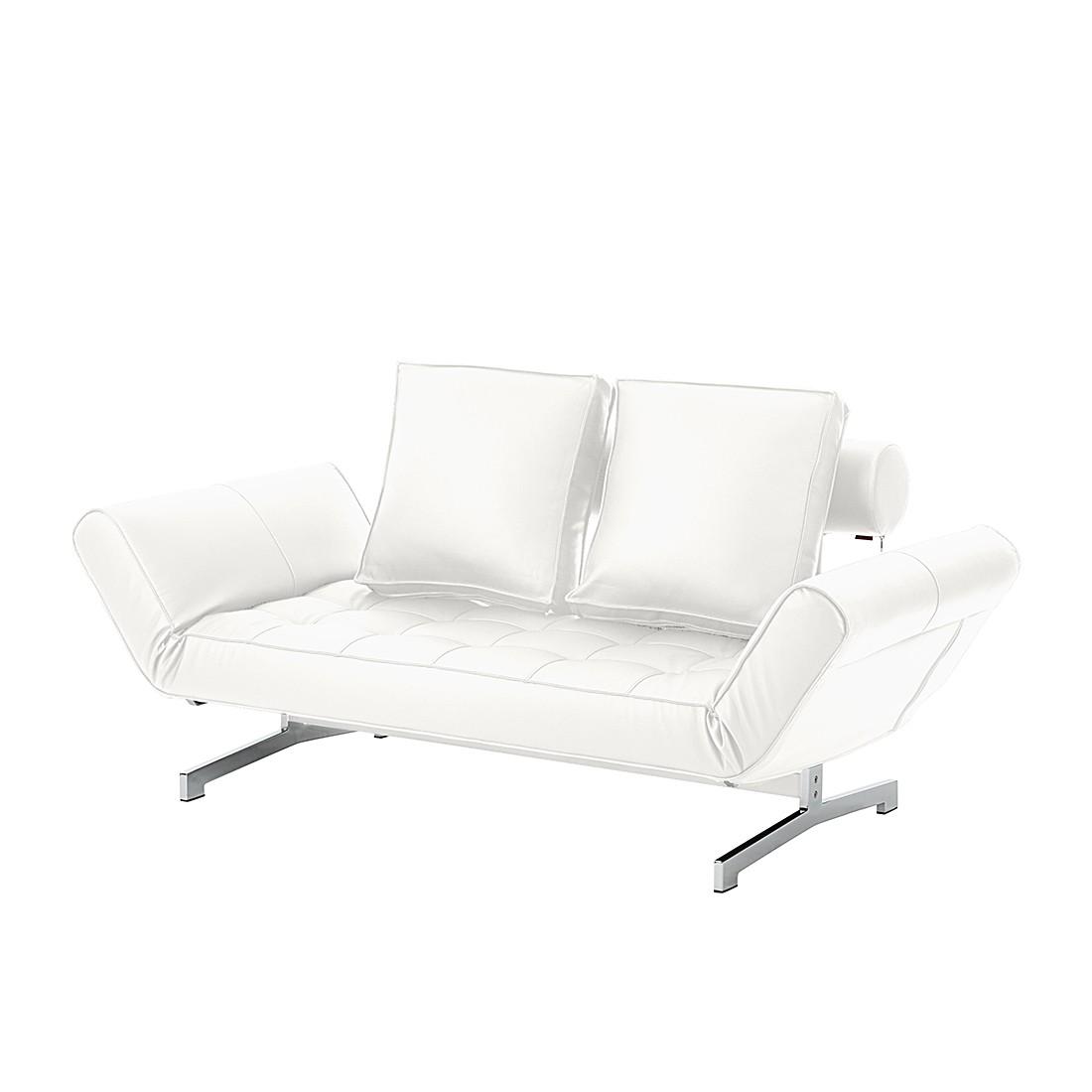 goedkoop Klapbank Ghia slaapfunctie kunstleer Gebroken wit Innovation Möbel