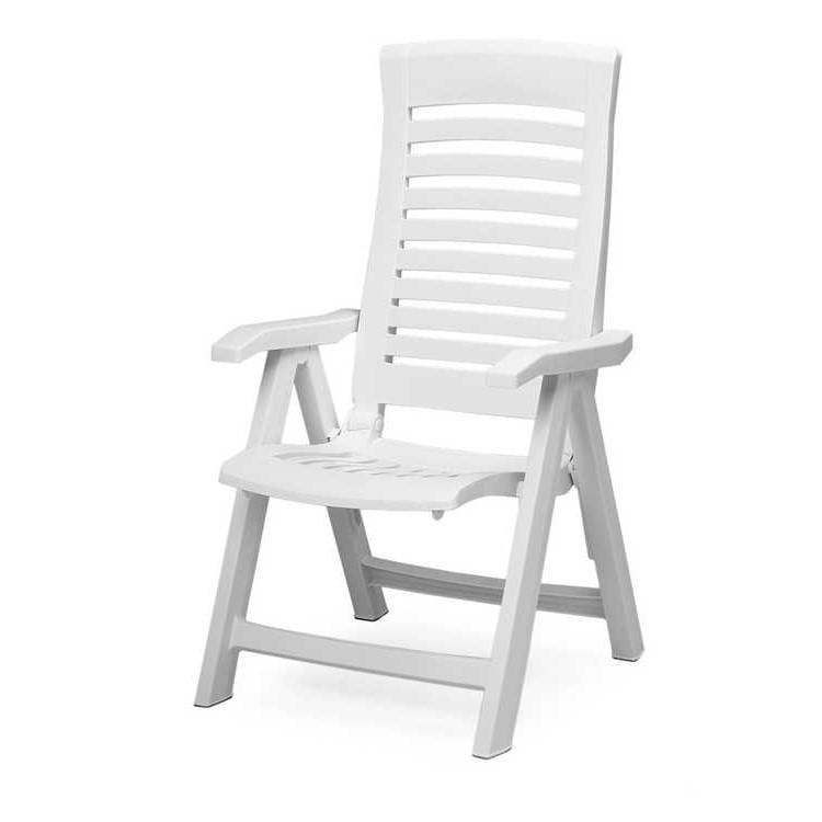 Klappstuhl Florida - Kunststoff - Weiß, Best Freizeitmöbel