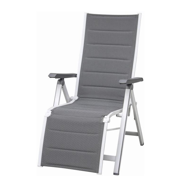 home24 Klappstuhl Futosa Relax | Küche und Esszimmer > Stühle und Hocker > Klappstühle | Grau | Metall - Textil | Siena Garden