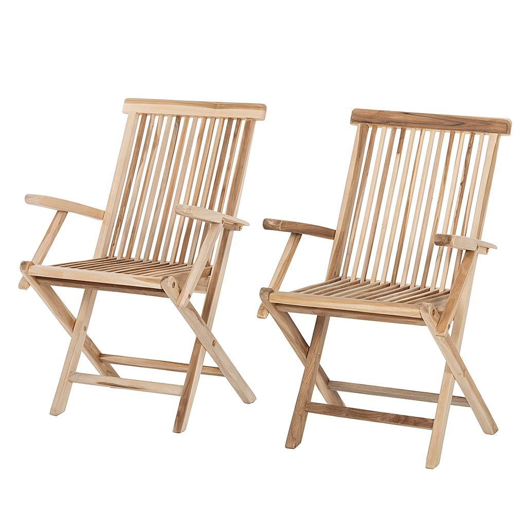 home24 Klappstuhl Teakline Classic II (2er-Set) | Garten > Gartenmöbel > Gartenstühle | Braun | Massivholz | Ploss