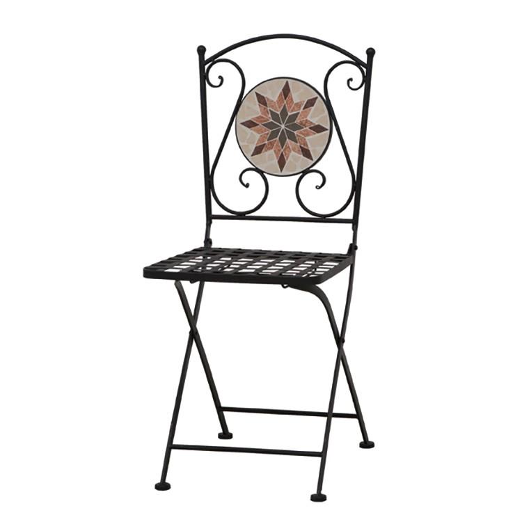 Klappstuhl Stella   Küche und Esszimmer > Stühle und Hocker > Klappstühle   Schwarz   Glas - Metall   Siena Garden