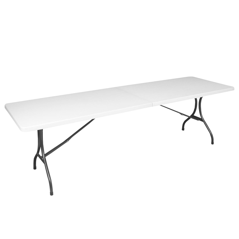 Gartentisch Mufaro IV - Stahl / Kunststoff - Weiß, Garden Pleasure
