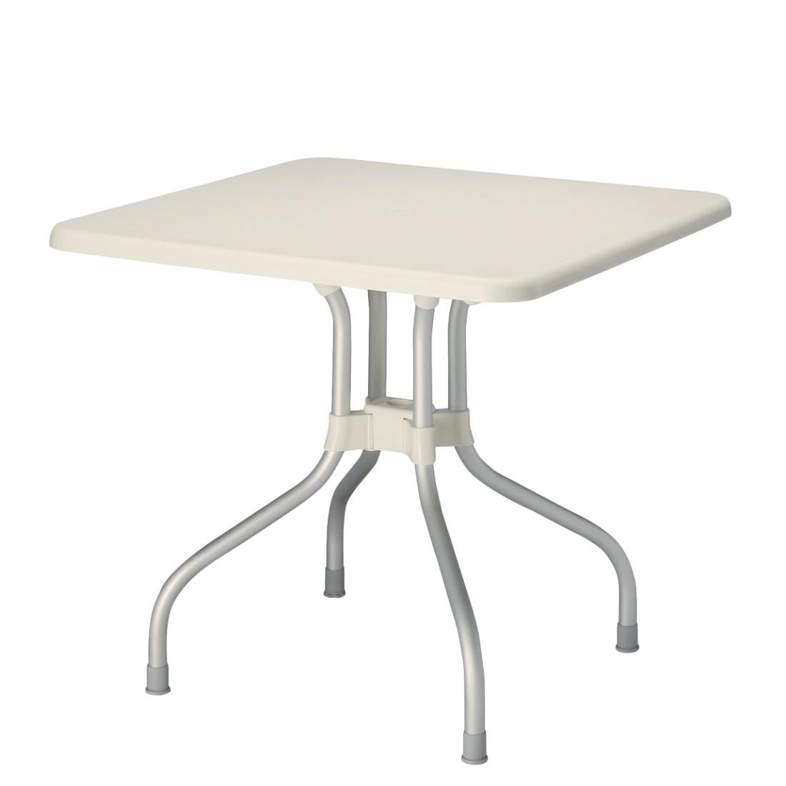 Klapptisch Vegas - Aluminium / Kunststoff - Silber / Cremeweiß, Best Freizeitmöbel