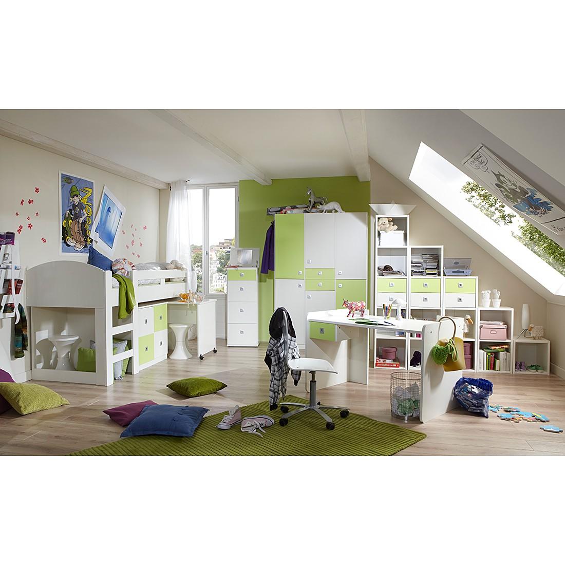 Kleiderschrank Sunny Ii In Alpinweiss Apfelgrun Home24