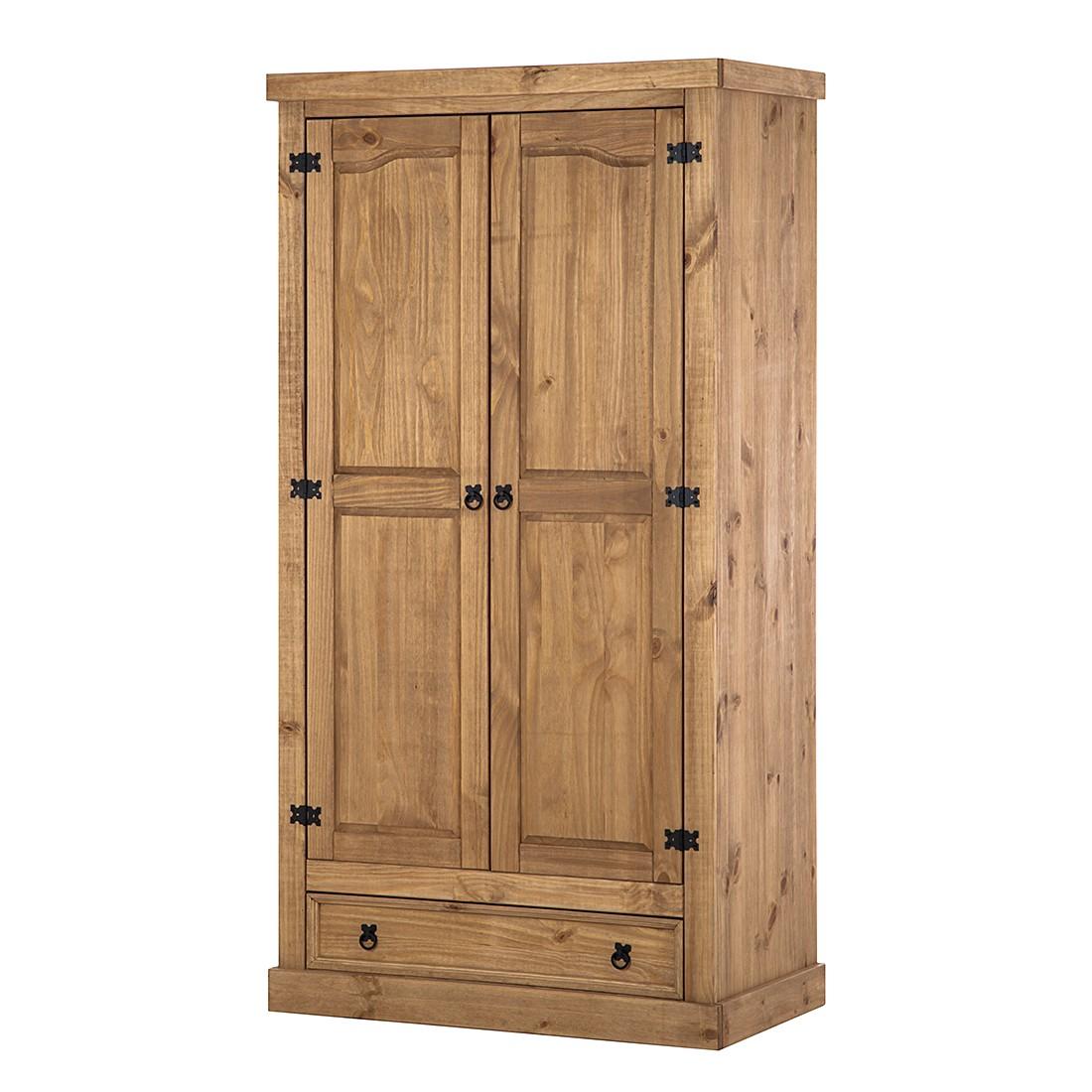 goedkoop Draaideurkast Finca Rustica II Massief grenenhout 102cm 2 deurs Maison Belfort