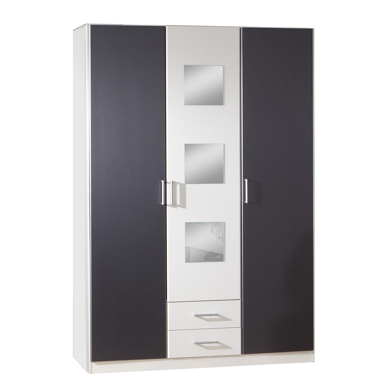 Armoire à vêtements Rocco - Blanc alpin / Anthracite, Wimex