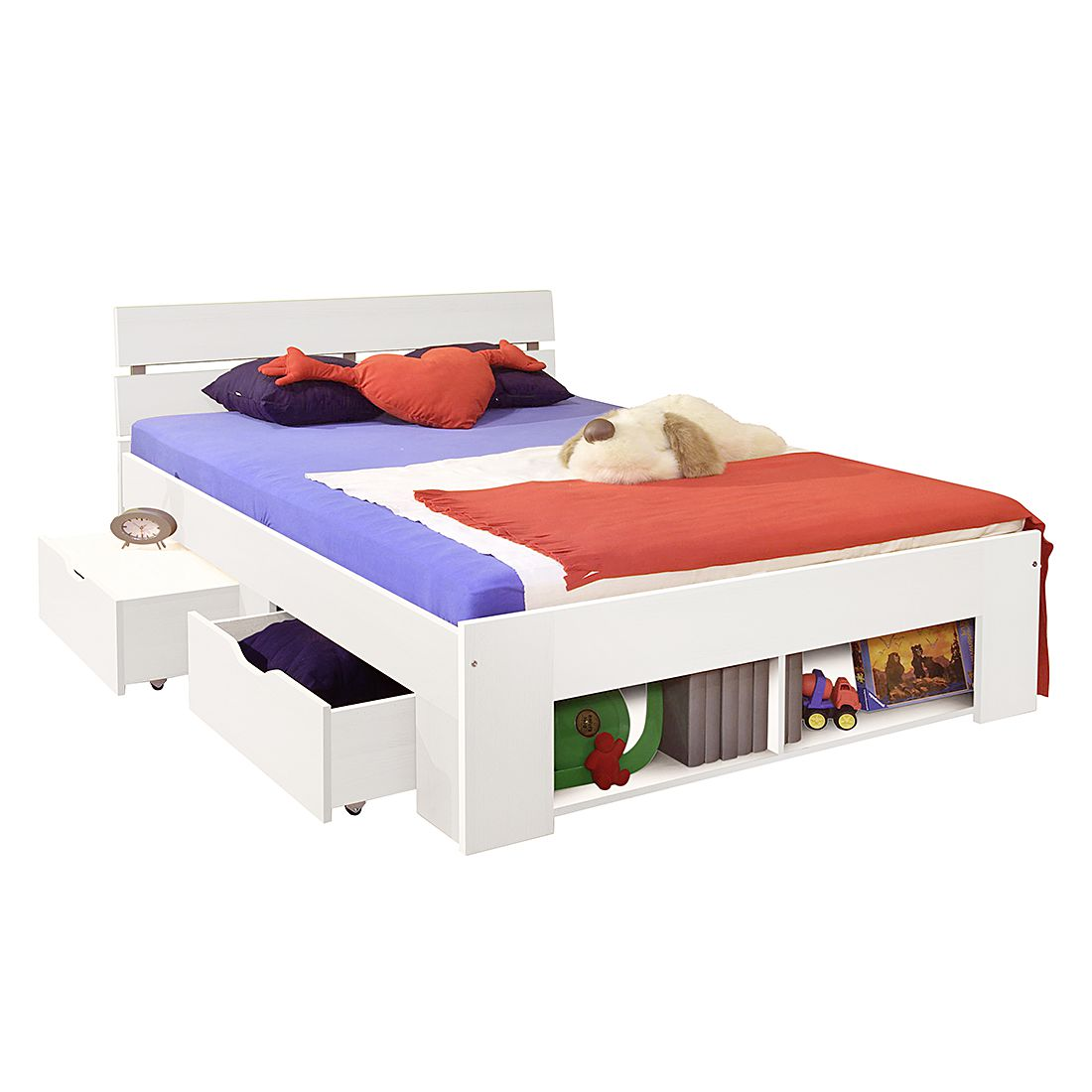 home24 Kojenbett Pinto | Kinderzimmer > Jugendzimmer > Jugendbetten | Weiss | Holz | Kids Club Collection