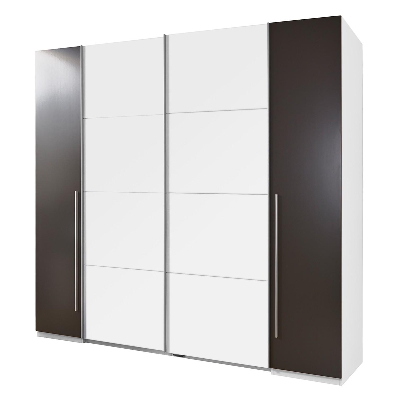 goedkoop Combikast Semitau wit lavasteenkleurig 315 cm 4 deurs Fredriks