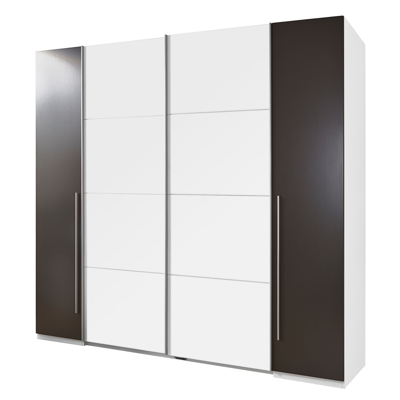 goedkoop Combikast Semitau wit lavasteenkleurig 270 cm 4 deurs Fredriks