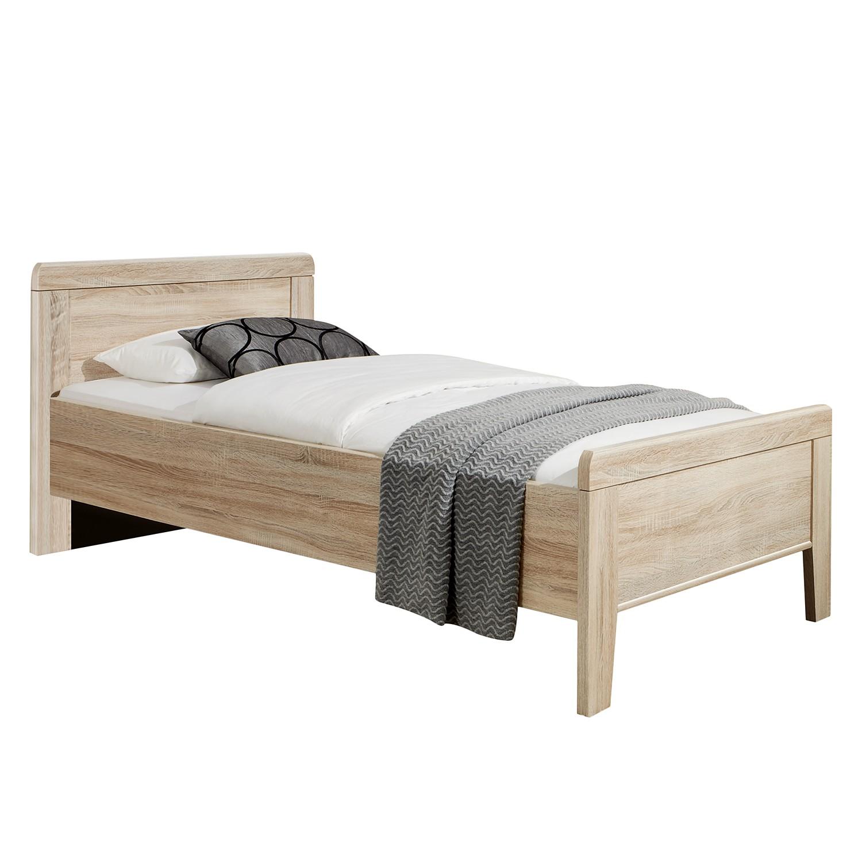 goedkoop Comfortbed I Meran grof gezaagde eikenhouten look 90 x 200cm Geen bedlade Wiemann