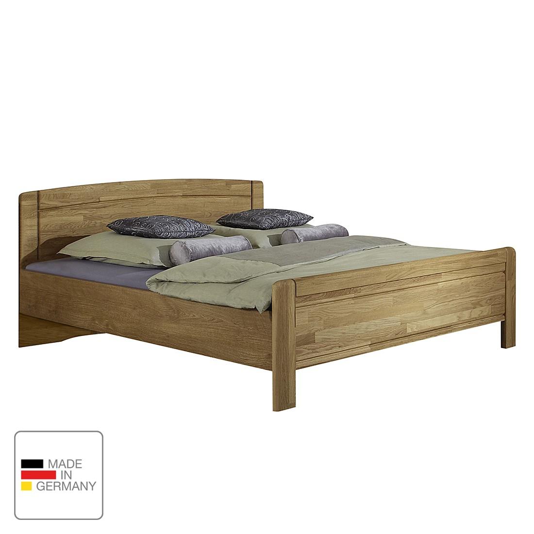 goedkoop Bed Münster deels massief eikenhout 200 x 190cm Wiemann
