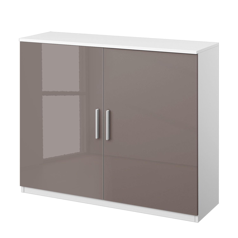 Cassettiera Celle I - Bianco alpino/Color grigio lava lucido, Rauch Packs