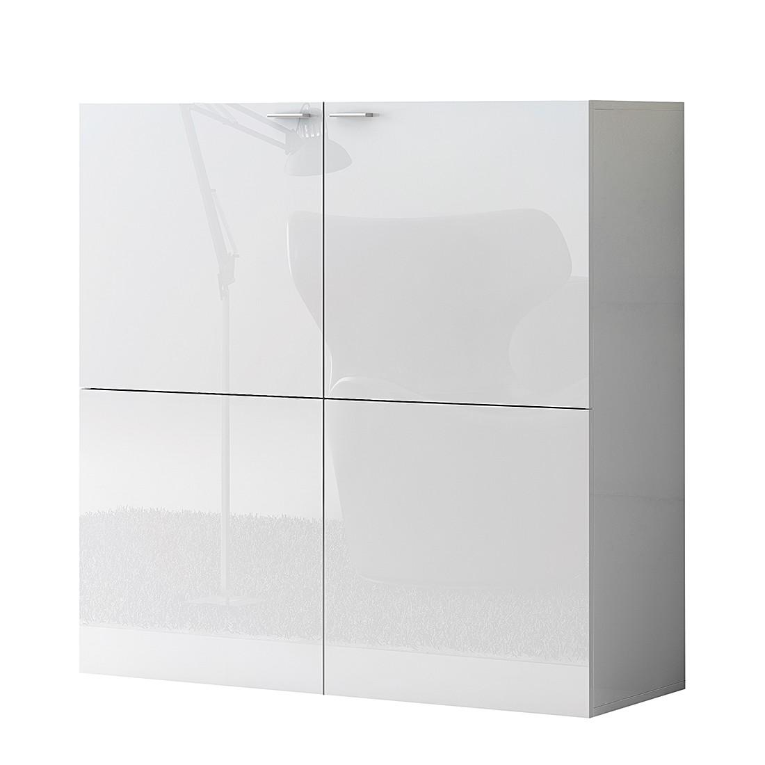 Commode Emporior - Blanc - Blanc brillant, Fredriks