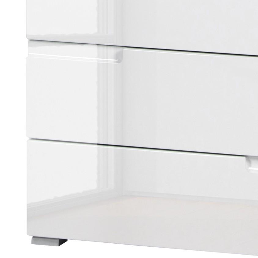 Kommode LARADO III - Hochglanz Weiß