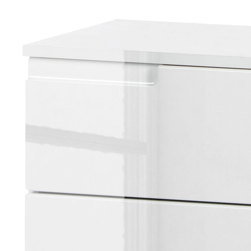 Kommode LARADO IV - Hochglanz Weiß