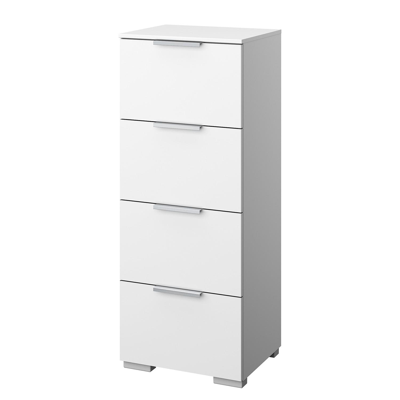 Kommode SKØP VI - Alpinweiß - Aluminium