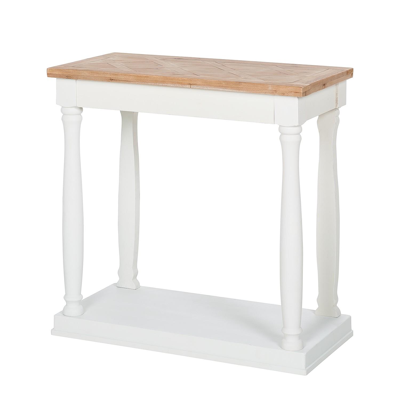 Image of Consolle Souillac - Parzialmente in legno massello di quercia - Quercia/Bianco, Maison Belfort