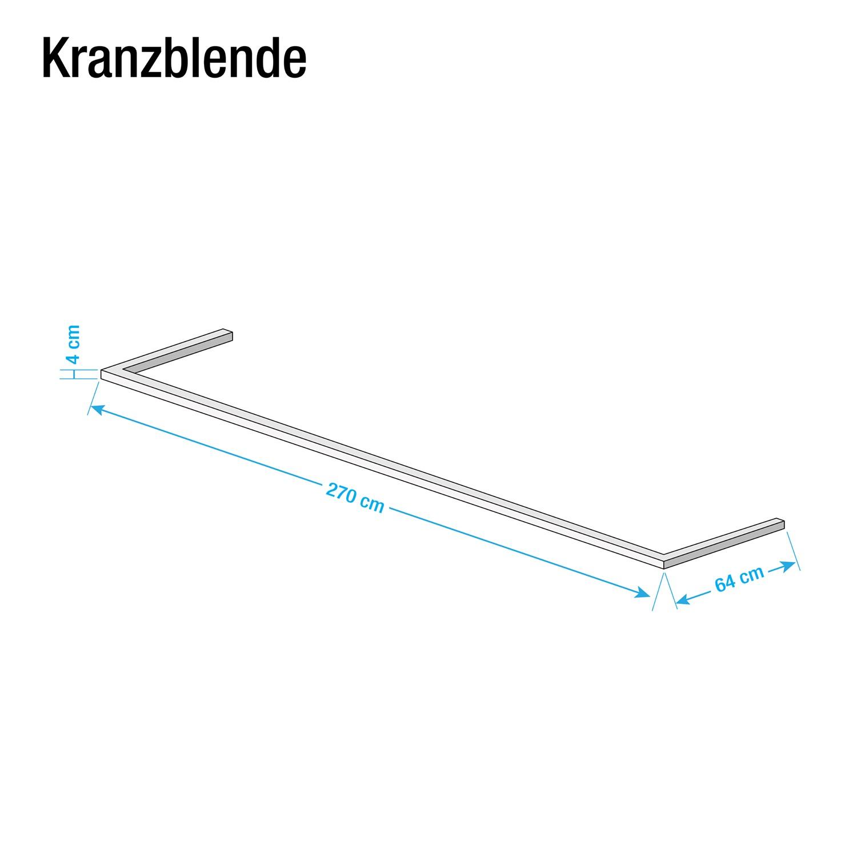 goedkoop Kroonlijst Skøp Grafiet 270cm 2 deurs Skop
