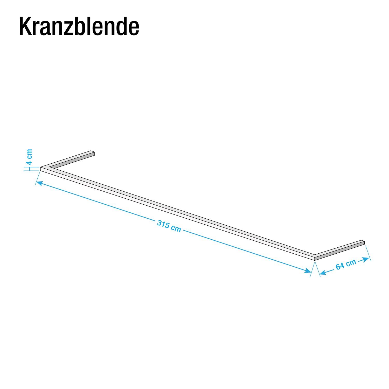 goedkoop Kroonlijst Skøp Grafiet 315cm 3 deurs Skop