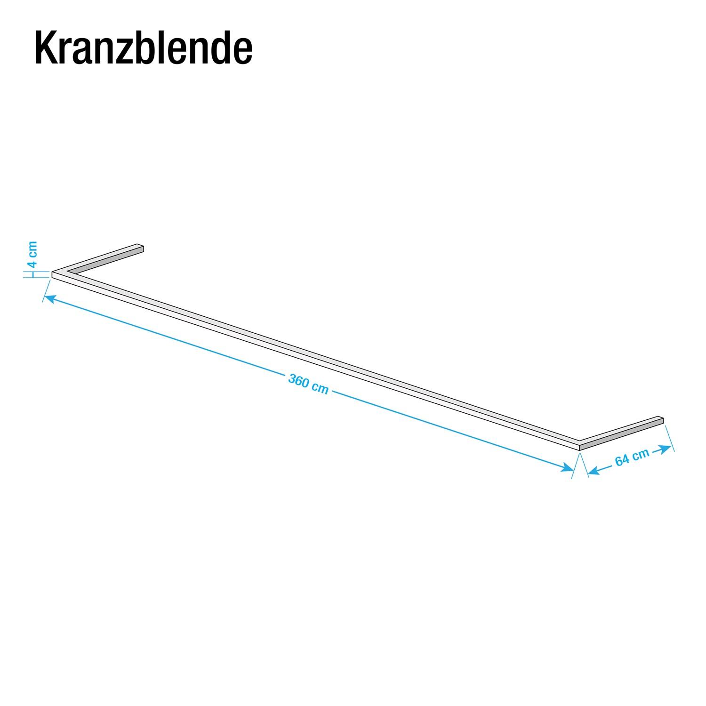 Kranzblende Skøp - Graphit - 360 cm (3-türig)