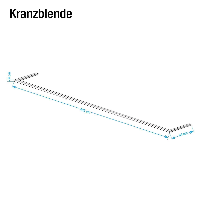 Kranzblende Skøp - Graphit - 405 cm (3-türig)