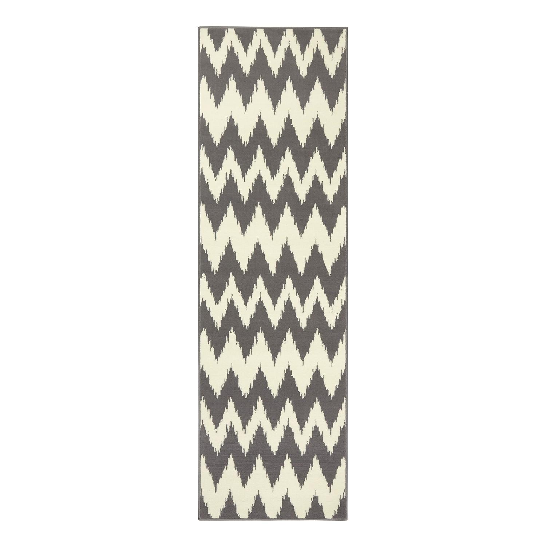 Läufer Fabric - Kunstfaser - Grau - 80 x 250 cm, Hanse Home Collection