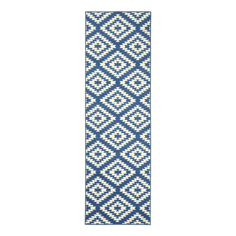 Läufer Nordic - Kunstfaser - Blau - 80 x 300 cm, Hanse Home Collection