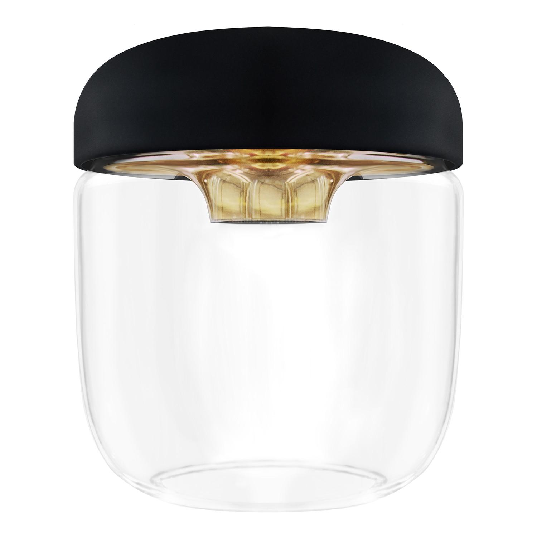 Lampenkap Acorn Glans glas silicone Zwart goudkleurig, VITA Copenhagen