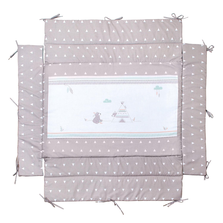home24 Laufgittereinlage Indibaer   Kinderzimmer > Babymöbel > Lauf- & Schutzgitter   Beige   Textil   Roba
