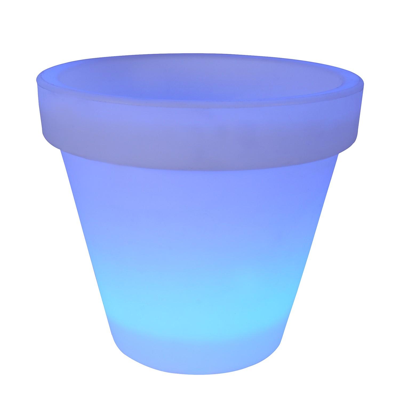 home24 LED-Aussen-Pflanzenkuebel OE35cm 20-flammig   Dekoration > Dekopflanzen > Pflanzenkübel   Blau   Kunststoff   Naeve