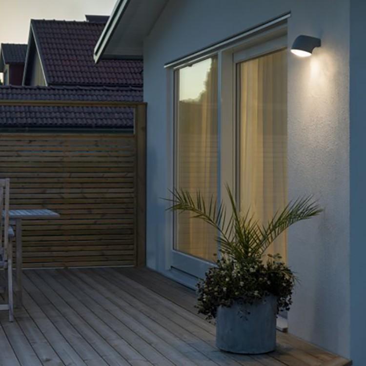 home24 LED-Aussenwandleuchte Ferrera Round
