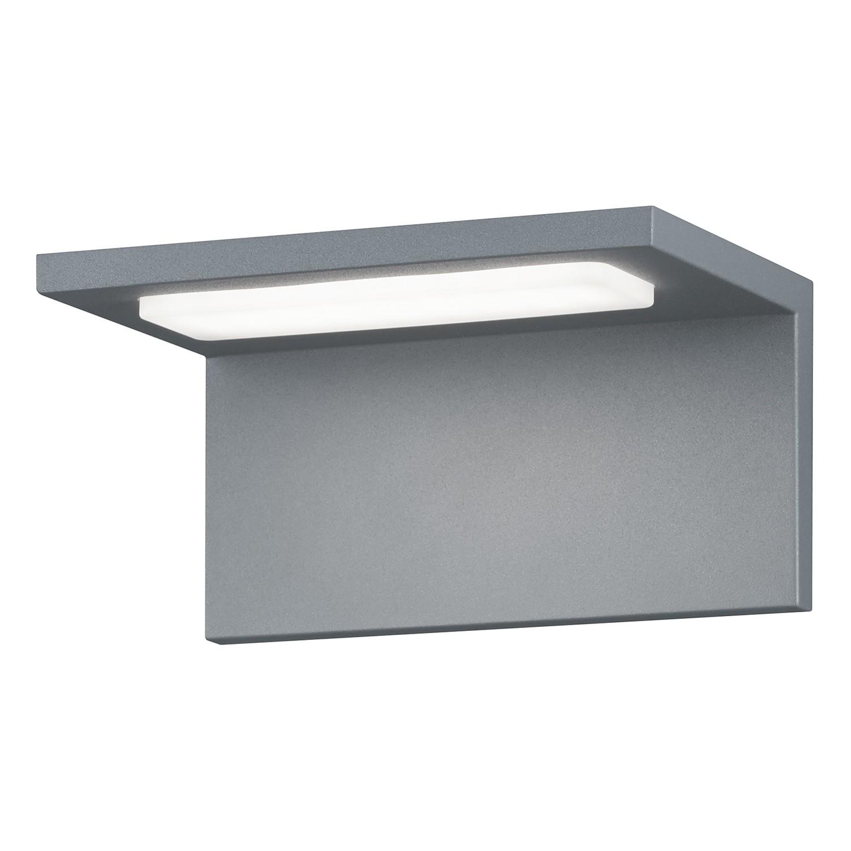 EEK A+, LED-Außenleuchte Trave 1-flammig - Aluminium Kunststoff - Silber, Trio