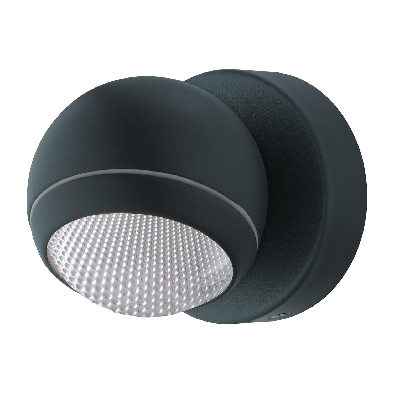 LED-Aussenstrahler Comio | Lampen > Aussenlampen > Aussenstrahler | Grau | Kunststoff - Metall | Eglo
