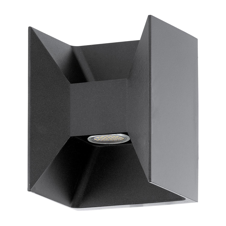 home24 LED-Aussenstrahler Morino Geo   Lampen > Aussenlampen > Aussenstrahler   Grau   Metall   Eglo