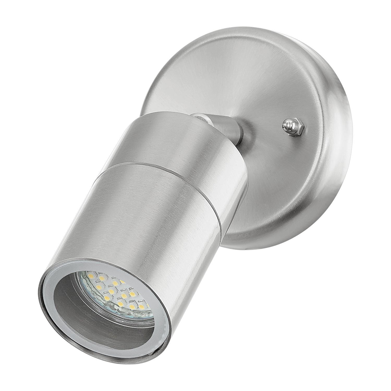 LED-Aussenstrahler Stockholm Spot | Lampen > Aussenlampen > Aussenstrahler | Silber | Glas - Metall | Eglo