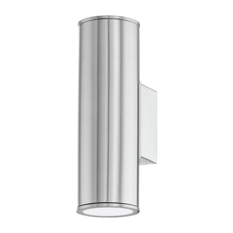 home24 LED-Aussenwandleuchte Rigan Fina II | Lampen > Aussenlampen > Wandleuchten | Silber | Metall | Eglo