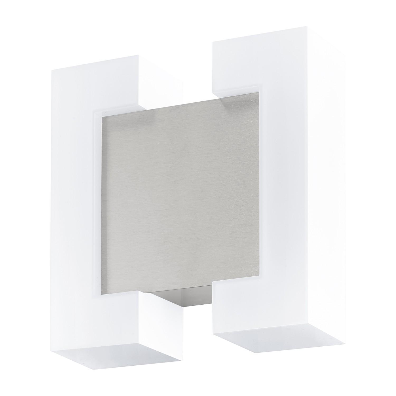home24 LED-Aussenwandleuchte Sitia | Lampen > Aussenlampen > Wandleuchten | Silber | Eglo