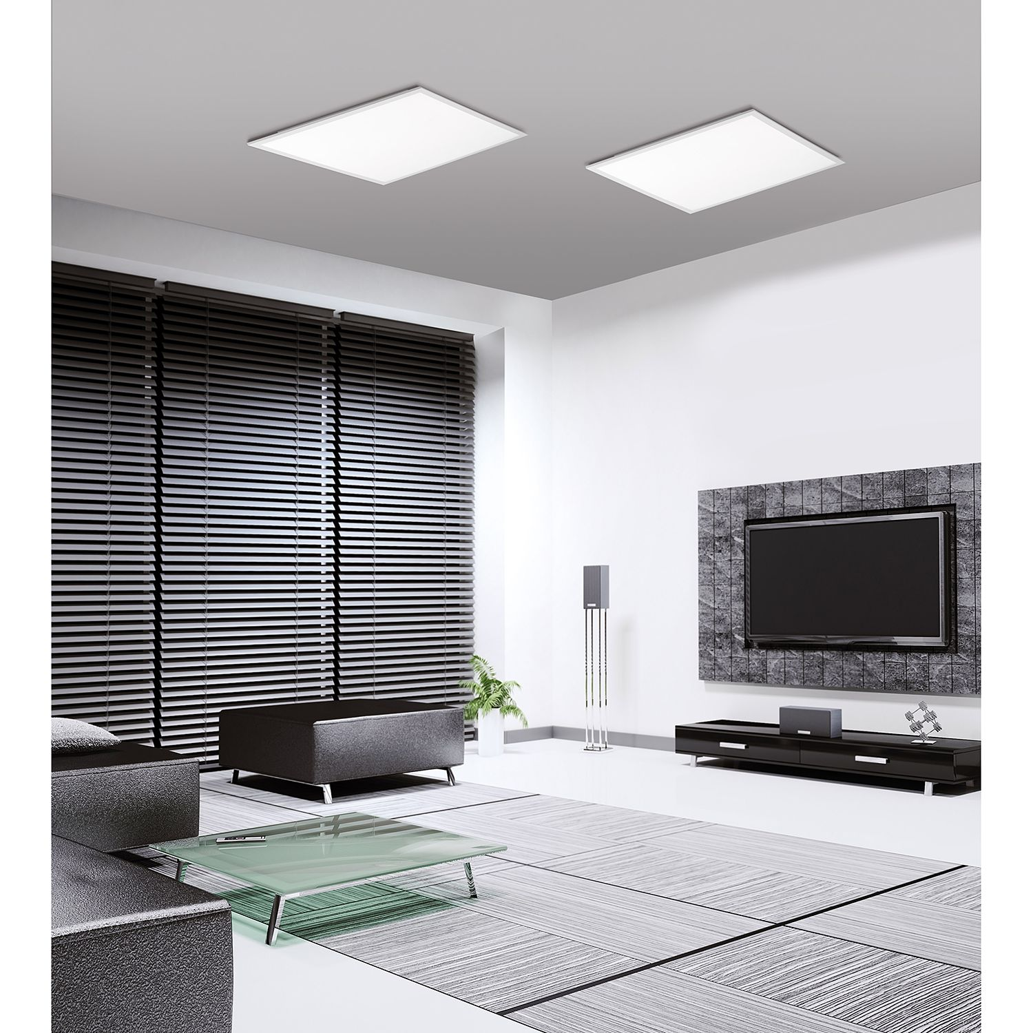 home24 LED-Deckenleuchte Flat Panel II