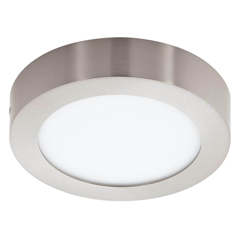 EEK A+, Plafonnier LED Fueva III - Matériau synthétique / Métal - 1 ampoule - 17 - Aluminium / Blanc, Eglo