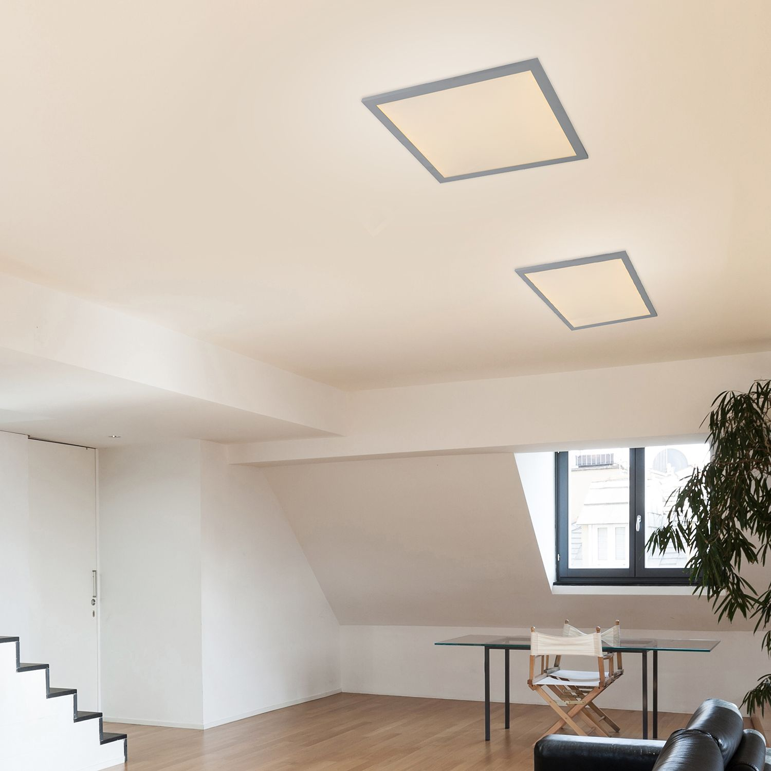 home24 LED-Deckenleuchte Marzo