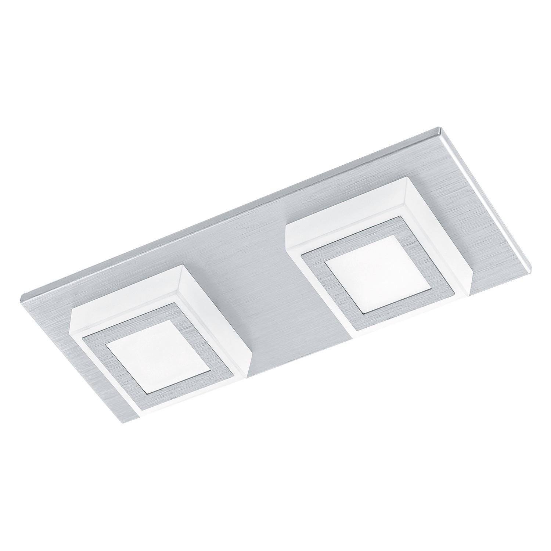 home24 LED-Deckenleuchte Masiano I | Lampen > Deckenleuchten > Deckenlampen | Silber | Kunststoff - Metall | Eglo