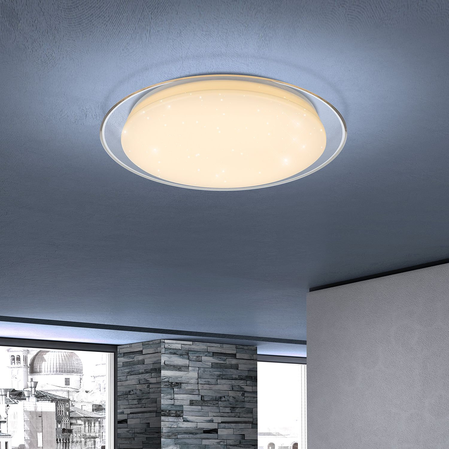 home24 LED-Deckenleuchte Optima Plate