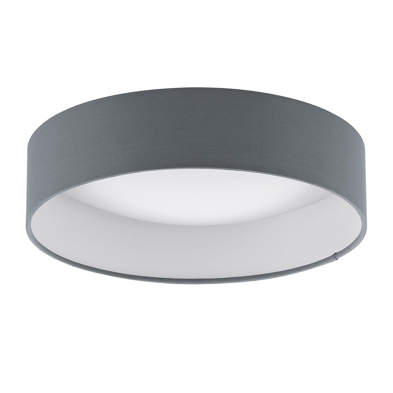 home24 LED-Deckenleuchte Palomaro | Lampen > Deckenleuchten > Deckenlampen | Grau | Kunststoff - Textil | Eglo