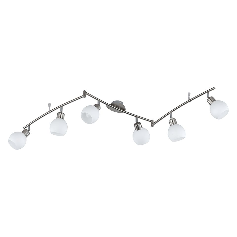 EEK A++, LED-Balken - Nickel - 6x4 W, Trio