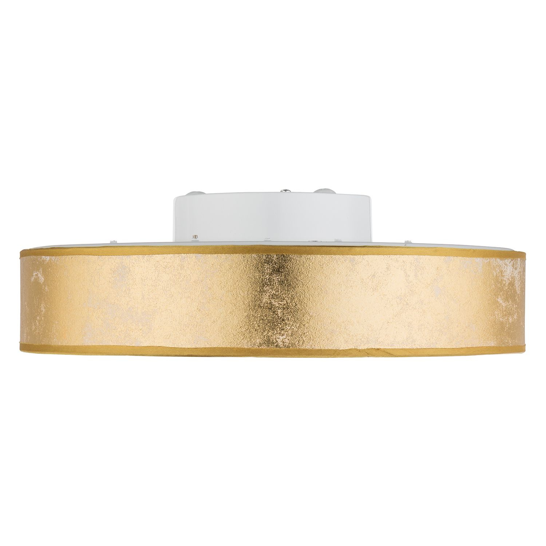 EEK A+, LED-Deckenleuchte Ted - Webstoff / Acrylglas - 1-flammig - Weiß / Gold, Globo Lighting