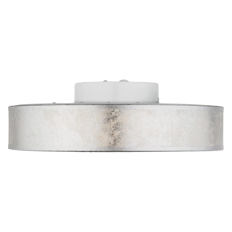 EEK A+, LED-Deckenleuchte Ted - Webstoff / Acrylglas - 1-flammig - Weiß / Silber, Globo Lighting