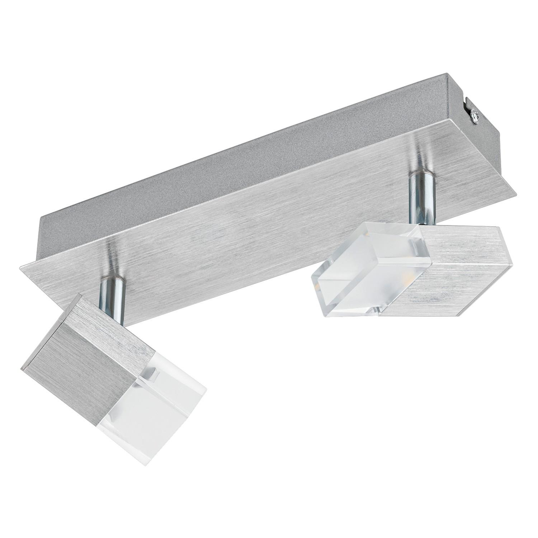 EEK A+, LED-Deckenstrahler Gemini I - Glas / Aluminium - 2-flammig, Eglo