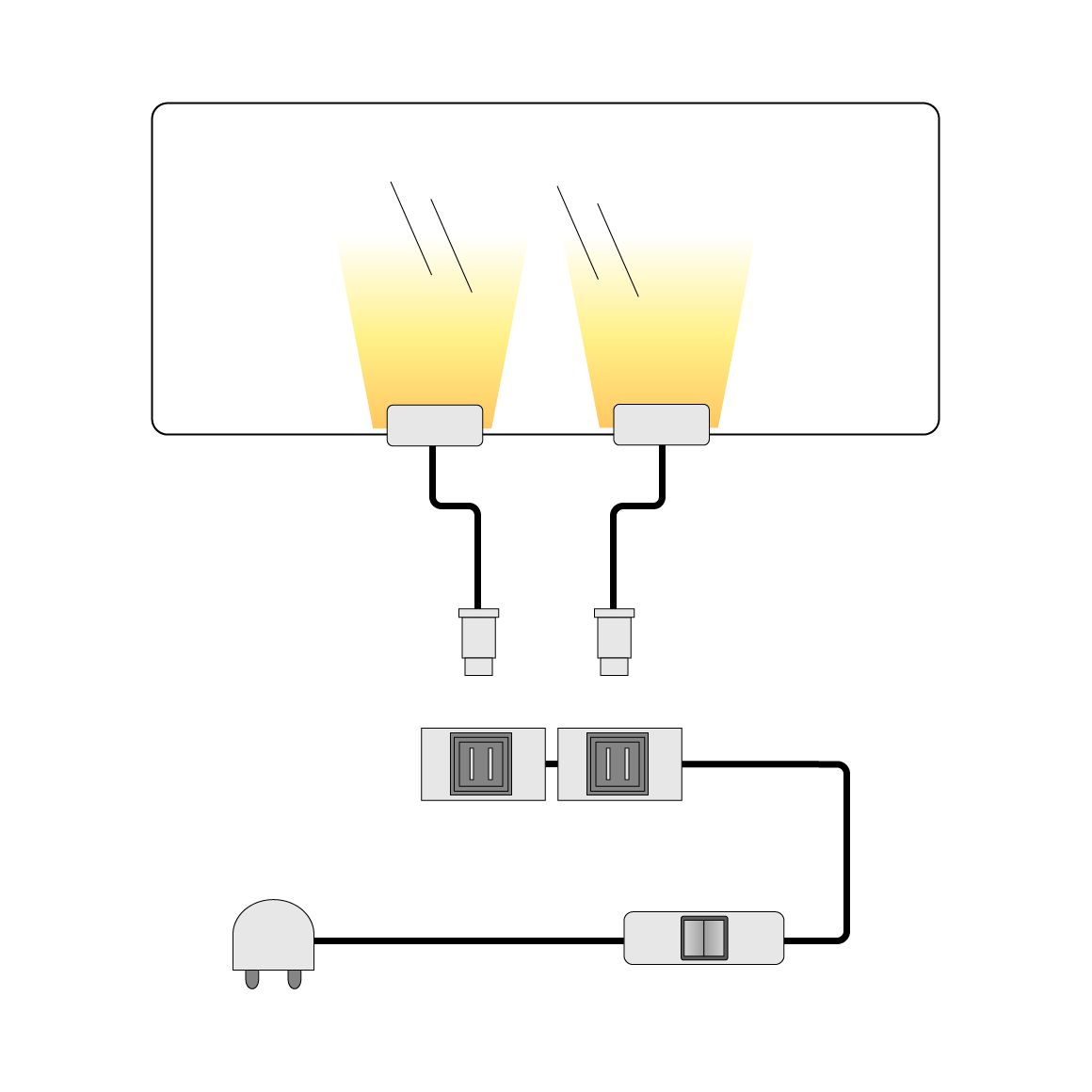 Image of energia A+, Illuminazioni LED per ripiani in vetro lopburi (set da 2) - Bianco, Lux