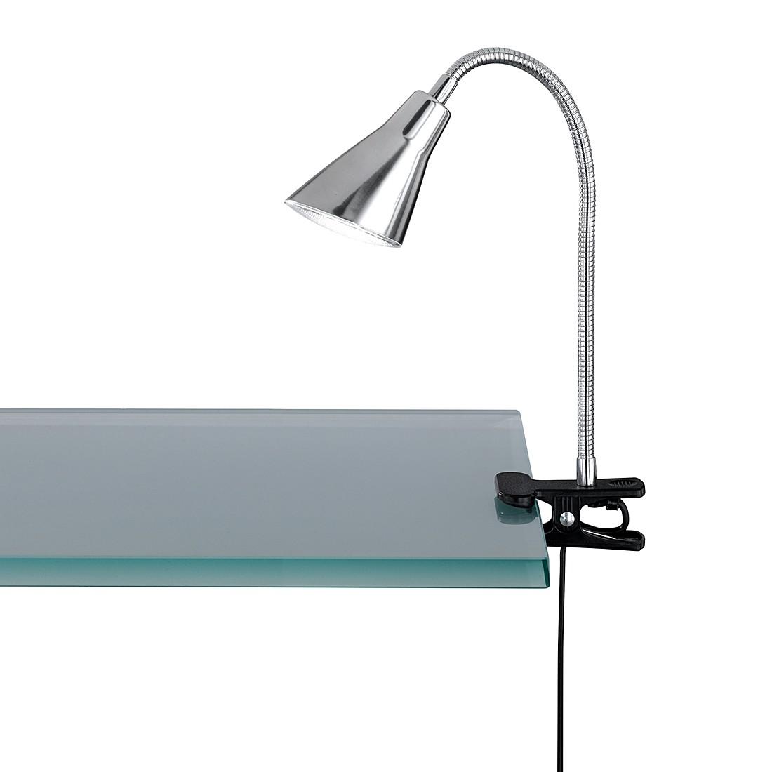 home24 LED-Klemmleuchte   Lampen > Tischleuchten > Leseleuchten   Silber   Kunststoff   Trio