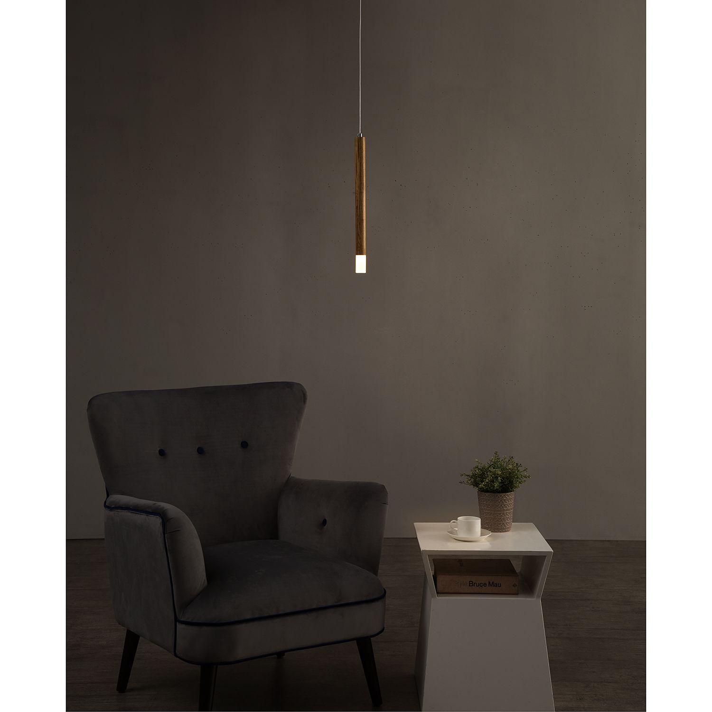 home24 LED-Pendelleuchte Cheia